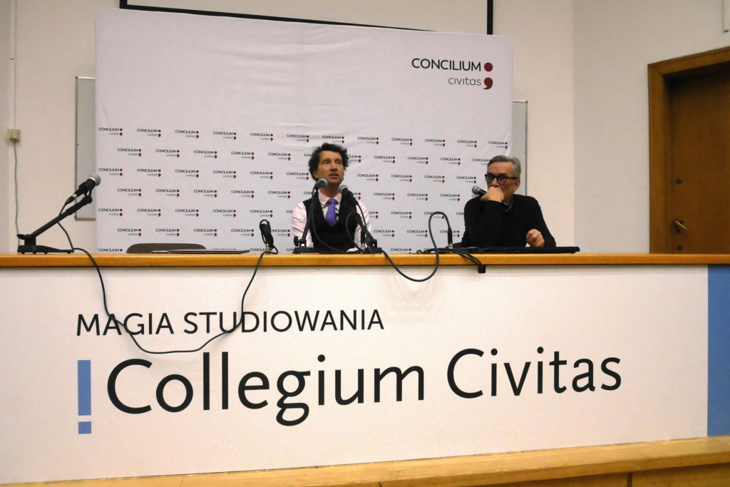 Michał Kosiński 20 grudnia 2019 wykład dla Concilium Civitas foto Włodek Ciejka wideo, konkurs dla maturzystów, matura 2020