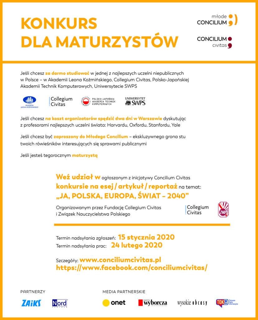 Konkurs dla Marurzystów, Concilium Civitas, Młode Concilium